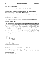 Determination of the Enantiomeric Purity of Levamisole and Dexamisole Using a Lanthanide Shift Reagent.