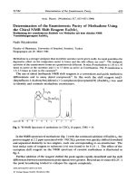 Determination of the Enantiomeric Purity of Methadone Using the Chiral NMR Shift Reagent Euhfc3.