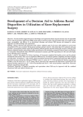 Development of a decision aid to address racial disparities in utilization of knee replacement surgery.
