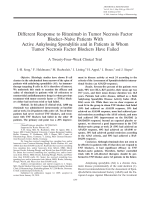 Different response to rituximab in tumor necrosis factor blockernaive patients with active ankylosing spondylitis and in patients in whom tumor necrosis factor blockers have failedA twenty-fourweek clinical trial.