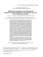 DNA-binding properties of the ecdysteroid receptor-complex EcRUSP of the epithelial cell line from Chironomus tentans.