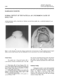 Dorsal defect of the patellaAn uncommon cause of knee pain.