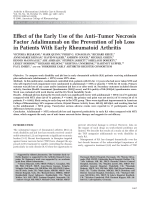 Effect of the early use of the antitumor necrosis factor adalimumab on the prevention of job loss in patients with early rheumatoid arthritis.