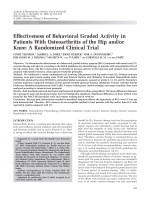 Effectiveness of behavioral graded activity in patients with osteoarthritis of the hip andor kneeA randomized clinical trial.