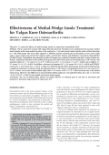 Effectiveness of medial-wedge insole treatment for valgus knee osteoarthritis.