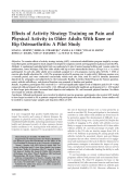 Effects of activity strategy training on pain and physical activity in older adults with knee or hip osteoarthritisA pilot study.