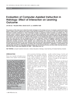 Evaluation of computer-assisted instruction in histologyEffect of interaction on learning outcome.