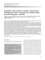 Feasibility and construct validity of the parent willingness-to-pay technique for children with juvenile idiopathic arthritis.