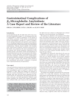 Gastrointestinal complications of  2-microglobulin amyloidosisA case report and review of the literature.