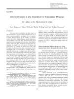 Glucocorticoids in the treatment of rheumatic diseasesAn update on the mechanisms of action.