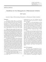 Guidelines for the management of rheumatoid arthritis2002 Update.