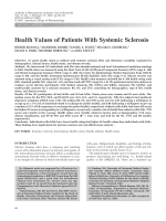 Health values of patients with systemic sclerosis.