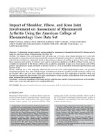Impact of shoulder elbow and knee joint involvement on assessment of rheumatoid arthritis using the American College of Rheumatology Core Data Set.