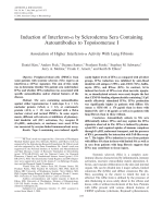 Induction of interferon-╨Ю┬▒ by scleroderma sera containing autoantibodies to topoisomerase IAssociation of higher interferon-╨Ю┬▒ activity with lung fibrosis.
