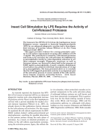 Insect cell stimulation by LPS requires the activity of cell-released proteases.