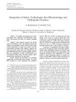 Integration of safety technologies into rheumatology and orthopedics practicesA randomized controlled trial.