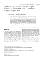 Ligand binding is without effect on complex formation of the ligand binding domain of the ecdysone receptor (EcR).
