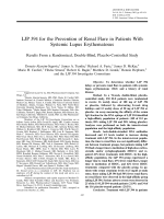 LJP 394 for the prevention of renal flare in patients with systemic lupus erythematosusResults from a randomized double-blind placebo-controlled study.