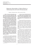 Magnesium abnormalities of skeletal muscle in dermatomyositis and juvenile dermatomyositis.