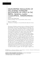 Neuropeptide regulators of the juvenile hormone biosynthesis (in vitro) in the beetle  Tenebrio molitor (Coleoptera  Tenebrionidae).