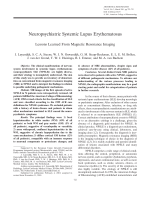 Neuropsychiatric systemic lupus erythematosusLessons learned from magnetic resonance imaging.
