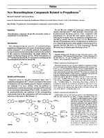 New Benzothiophene Compounds Related to Propafenone.