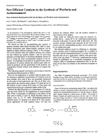 New Efficient Catalysts in the Synthesis of Warfarin and Acenocoumarol.