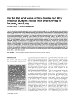 On the use and value of new media and how medical students assess their effectiveness in learning anatomy.