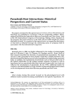 Parasitoid-host interactionsHistorical perspectives and current status.