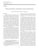 Pituitary hormones and systemic lupus erythematosus.