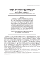 Possible Mechanisms of Trichosanthin-Induced Apoptosis of Tumor Cells.