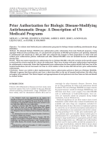 Prior authorization for biologic disease-modifying antirheumatic drugsA description of US medicaid programs.