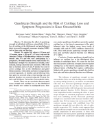 Quadriceps strength and the risk of cartilage loss and symptom progression in knee osteoarthritis.