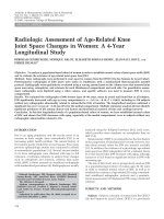 Radiologic assessment of age-related knee joint space changes in womenA 4-year longitudinal study.