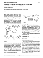 Reaktionen CH-aktiver Pyridylderivate mit 135-Triazin. Reactions of CH-Activated Pyridyl Derivatives with 135-Triazine
