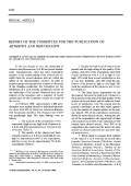 Report of the committee for the publication of ARTHRITIS AND RHEUMATISM.