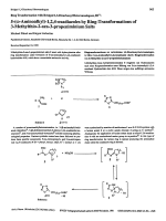 Ring transformation with bridged 13-dicarbonyl heteroanalogues III 5-╨Я ░-aminoalkyl-124-oxadiazoles by ring-transformations of 3-methylthio-2-aza-3-propeniminium salts.