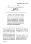 Semicircular canal geometry  afferent sensitivity  and animal behavior.