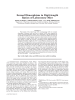Sexual dimorphism in digit-length ratios of laboratory mice.