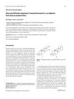 Short and Efficient Approach Towards Buxozine-C an Alkaloid from Buxus sempervirens.