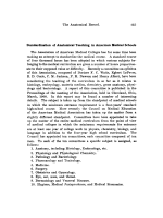 Standardization of Anatomical Teaching in American Medical Schools.