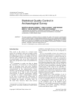 Statistical quality control in archaeological survey.