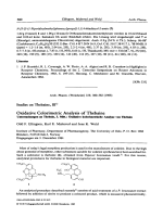 Studies on thebaine III. Oxidative colorimetric analysis of thebaine