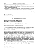 Synthese und narkotische Wirkung von Pyrimido[12-a]benzimidazol-24-dionen Synthesis and Anesthetic Activity of Pyrimido[12-a]benzimidazole-24-diones.