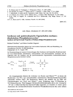 Synthesen und spektroskopische Eigenschaften methano-UberbrUckter Phosphaheterocyclen. Syntheses and Spectroscopic Properties of Methano-Bridged Phosphaheterocycles