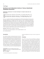 Synthesis and Antibacterial Activity of Various Substituted Oxadiazole Derivatives.