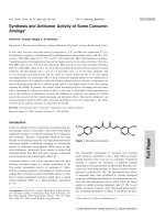 Synthesis and Antitumor Activity of Some Curcumin Analogs.
