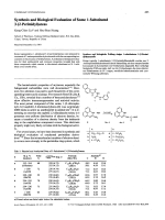 Synthesis and Biological Evaluation of Some 1-Substituted 3-2-Perimidylureas.