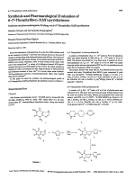 Synthesis and Pharmacological Evaluation of 6-7-Theophylline-32H-PyridazinoneSynthese und Pharmakologische PrUfung von 6-7-Theophyllin 32H-pyridazinon.