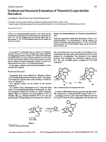 Synthesis and Structural Evaluations of Thiazolo[32-a]pyrimidine Derivatives.